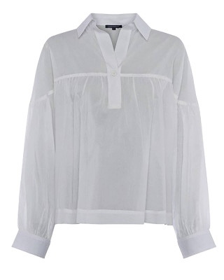 French Connection Dana Cotton Voile Smock Top - Summer White