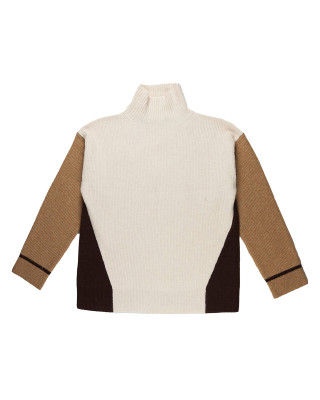 French Connection High Neck Colour Block Jumper