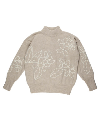 French Connection Lami Flora Embroidered Knit Jumper