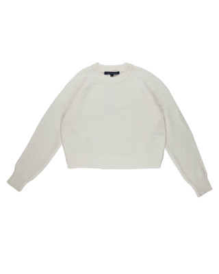French Connection Lilly Mozart Crew Neck Jumper - Summer White