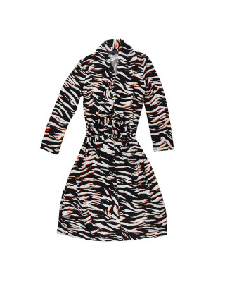 French Connection Thita Tiger Print Jersey Dress