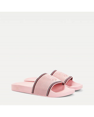 Tommy Hilfiger Knitted Pool Sliders - Pink