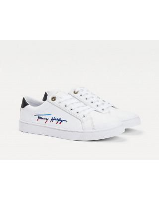 Tommy Hilfiger Signature Cupsole Trainers - White