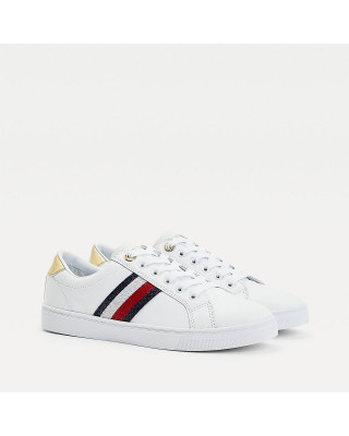 Tommy Hilfiger Signature Tape Cupsole Trainers - White