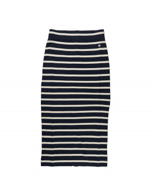 Gant Breton Stripe Jersey Skirt - Evening Blue