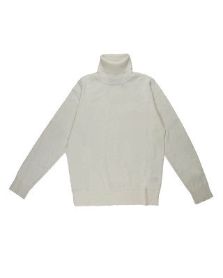 Gant Light Cotton Turtleneck Knit - Eggshell