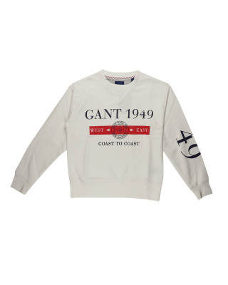 Gant Nautical Crew Neck Sweatshirt - Eggshell