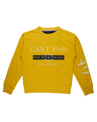 Gant Nautical Crew Neck Sweatshirt - Solar Yellow
