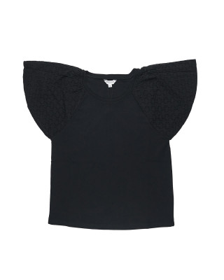 Great Plains Aime Appliqué Top - Black