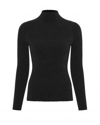 Great Plains Bethan Knit High Neck Jumper - Black