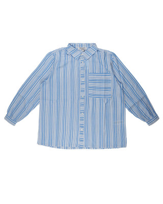Great Plains Long Sleeve Core Stripe Shirt - Blue