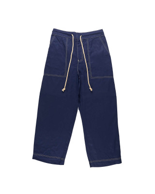 Great Plains Topstitch Detail Trousers - Classic Navy