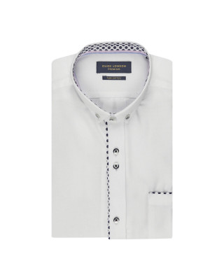 Guide London Bright Polka Dot Print Short Sleeve Shirt - White