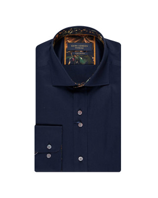 Guide London Premium Long Sleeve Navy Shirt