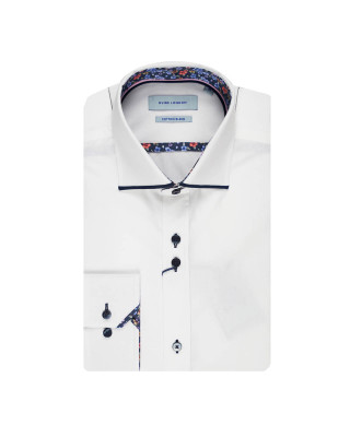 Guide London White / Navy Long Sleeve Shirt