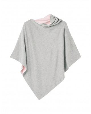 Joules Beatrice Knitted Cape - Grey Marl