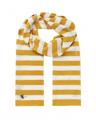 Joules Conway Lightweight Printed Scarf - Bee Ombre