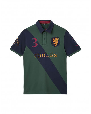 Joules Embellished Polo Shirt - Racing Green