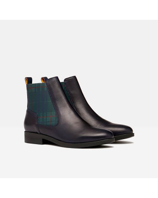 Joules Hendry Leather Chelsea Boots - Navy