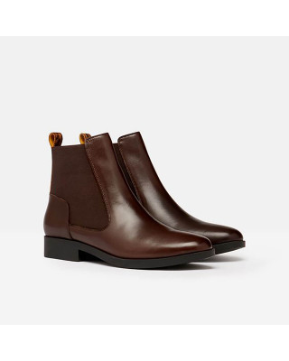 Joules Hendry Leather Chelsea Boots - Dark Brown