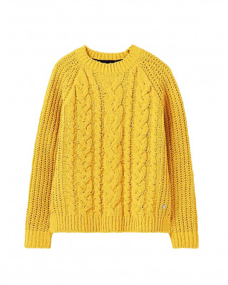 Joules Seaford Chenille Cable Jumper - Gold