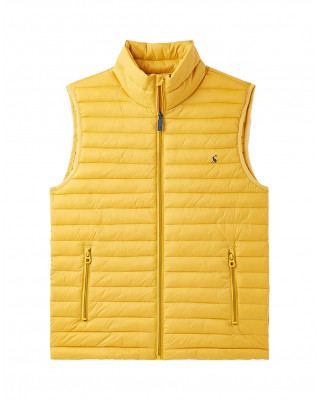 Joules Snug Packable Padded Gilet - Antique Gold
