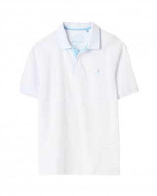 Joules Woody Classic Fit Polo Shirt - White