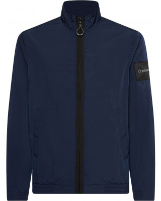 Calvin Klein Crinkle Nylon Zip Up Jacket - Navy