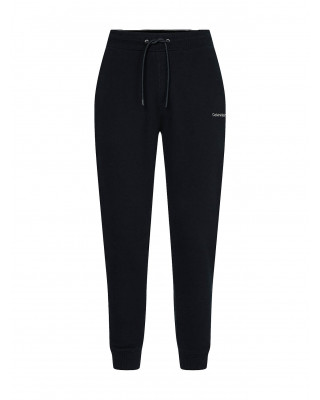 Calvin Klein Organic Cotton Embroidered Logo Joggers - Black