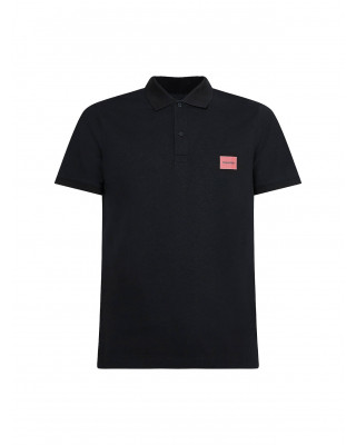 Calvin Klein Slim Stretch Pique Polo Shirt - Black
