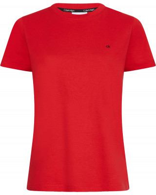 Calvin Klein Logo Embroidered T-Shirt - Red Glare