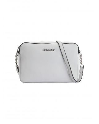 Calvin Klein Pebble Texture Crossbody Bag - Cement