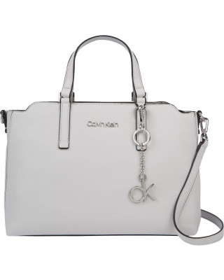 Calvin Klein Tote Bag With Top Handles - Cement