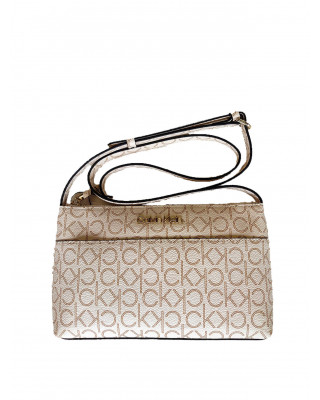 Calvin Klein Mono Crossbody Bag - Birch