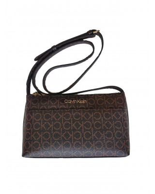 Calvin Klein Mono Crossbody Bag - Brown