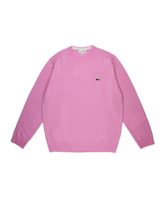 Lacoste Organic Cotton Crew Neck Jumper - Rose
