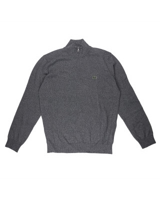 Lacoste Half Zip Jumper - Grey Chine