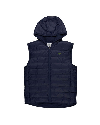 Lacoste SPORT Hooded Water-Resistant Ripstop Quilted Vest