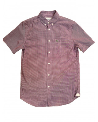 Lacoste Regular Fit Gingham Check Shirt - Blue/Rouge