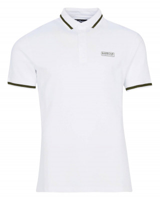 Barbour International Grid Tipped Polo Shirt - White