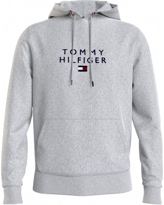 Tommy Hilfiger Logo Flex Fleece Hoodie - Grey Heather