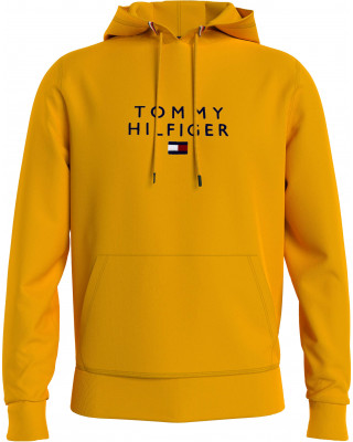 Tommy Hilfiger Logo Flex Fleece Hoodie - Courtside Yellow