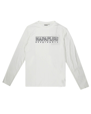 Napapijri Sebel Long Sleeve T-Shirt - Bright White