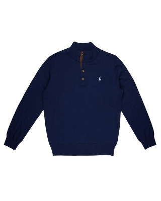 Polo Ralph Lauren Button Detail Jumper - Navy
