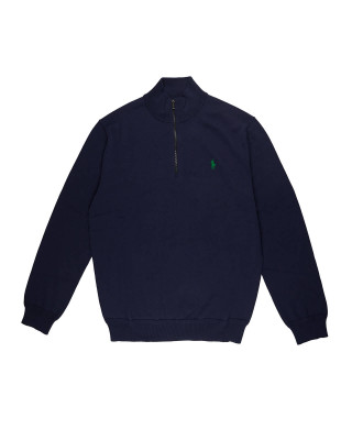 Polo Ralph Lauren Cotton Half-Zip Jumper - French Navy