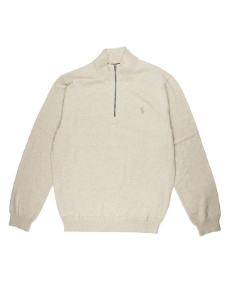 Polo Ralph Lauren Cotton Half-Zip Jumper - Oatmeal