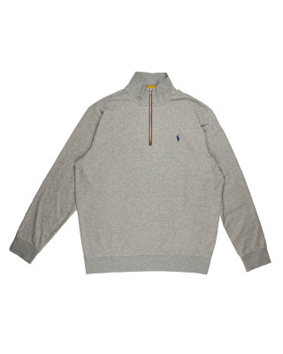 Polo Ralph Lauren Zip Neck Jumper - Grey Heather