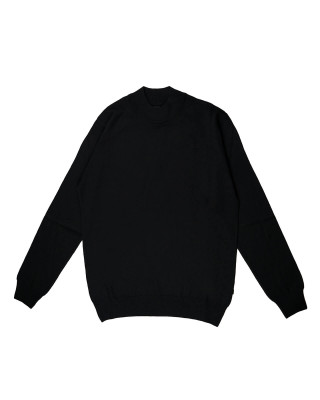 Remus Uomo Casual Slim Fit Merino Wool-Blend Turtleneck Jumper - Black