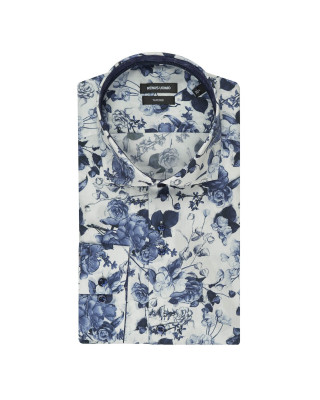 Remus Uomo Formal Cotton Tapered Fit Patterned Shirt
