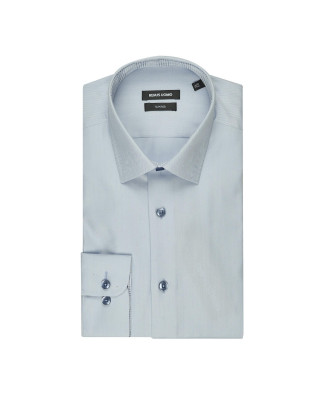 Remus Uomo Formal Cotton Tapered Fit Shirt - Light Blue